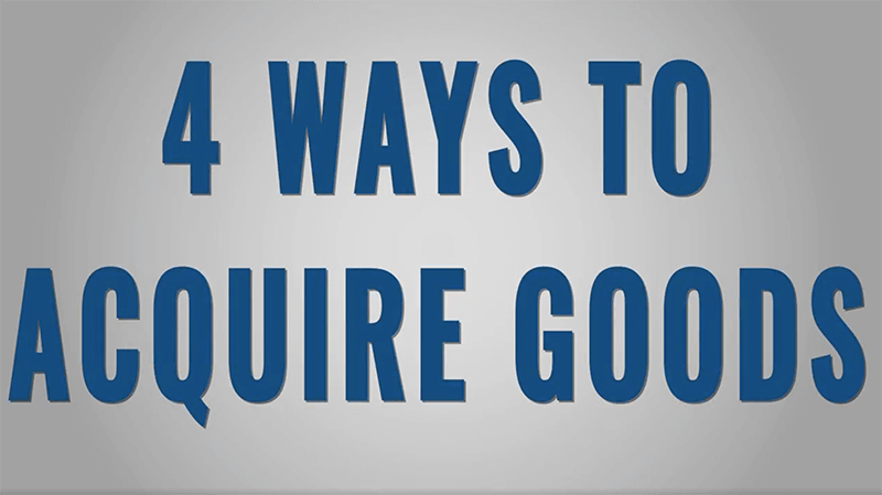 010 Four Ways to Acquire the Things You Want