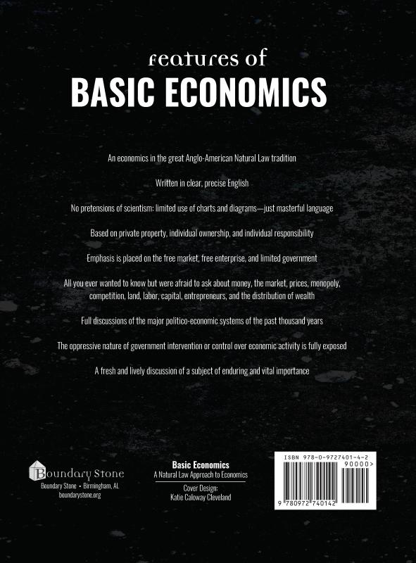 Basic Economics 4th ed Back Cover