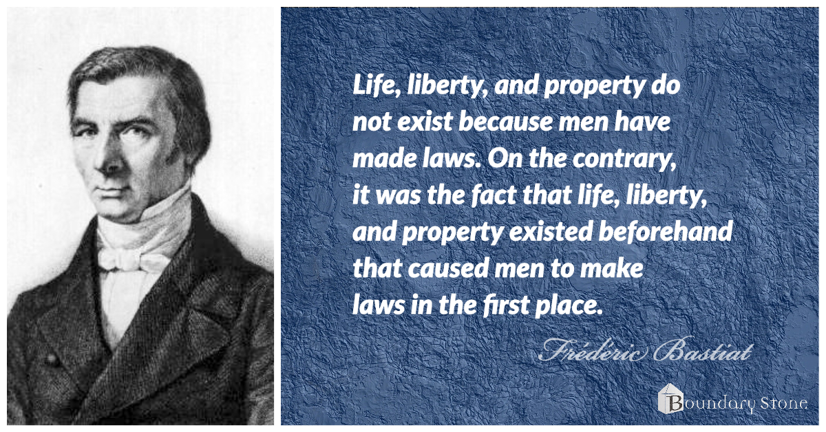 Bastiat Natural Rights Quote Image