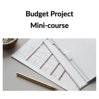 Budget Project Mini-course Product Image
