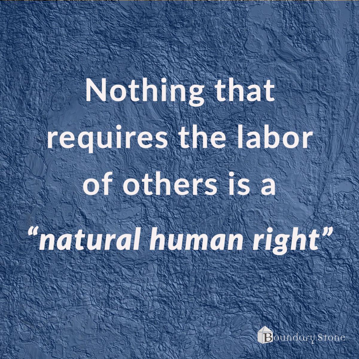 Natural Human Rights